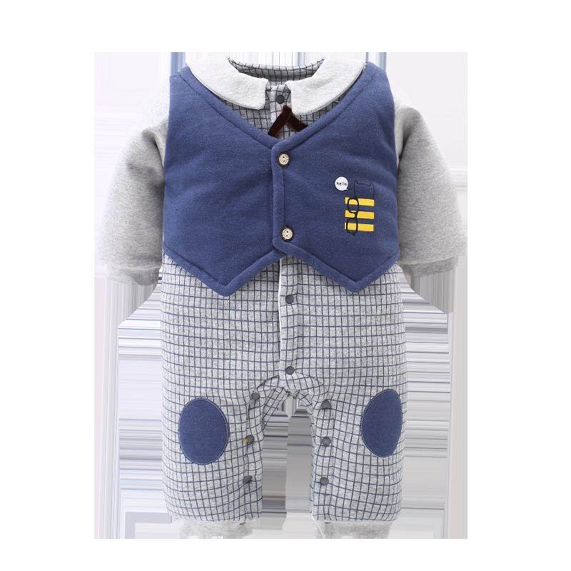 婴儿冬装连体衣外出女婴幼儿加厚一岁半男宝宝春秋睡衣