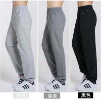 夏季薄款运动裤男士长裤子跑步针织棉大码直筒收口修身休闲卫裤子