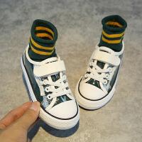 儿童鞋子男童女童帆布鞋透明百搭板鞋
