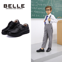 【到手价:229元】百丽Belle童鞋2018新款时尚男童绅士英伦学生鞋舒适保暖百搭简约皮鞋(8-12岁可选) DE0