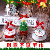 圣诞老人棉毛巾礼品创意实用圣诞节小礼物装饰品公司活动礼物批发