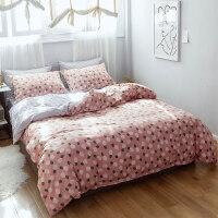 床上四件套棉三件套学生宿舍1.5米1.8m双人公主风床单被套k
