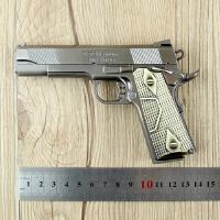 柯尔特M1911手枪 全金属红外线手枪 可发射激光枪模 儿童玩具