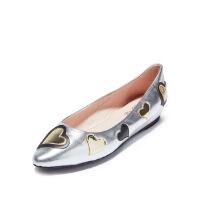 爱旅儿哈森旗下时尚爱心内增高尖头甜美浅口单鞋女EL71502