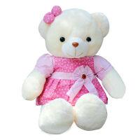 儿童抱抱熊 毛绒玩具泰迪熊抱抱熊可爱小熊布娃娃公仔大号玩偶儿童女生日礼物 粉红色 天使熊