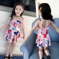 儿童泳衣女游泳衣连体公主裙式宝宝泳衣可爱女童泳衣