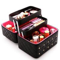 大容量韩版化妆包可爱小随身便携手提收纳盒简约化妆箱现代简约旅行化妆品收纳箱化妆箱用具