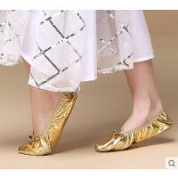 肚皮舞鞋网红同款时尚户外新品印度舞蹈表演鞋练习鞋练功鞋软底女式金色舞蹈鞋