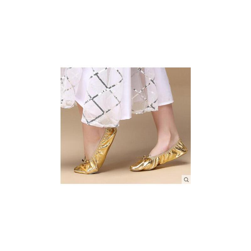 肚皮舞鞋网红同款时尚户外新品印度舞蹈表演鞋练习鞋练功鞋软底女式金色舞蹈鞋 品质保证 售后无忧