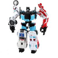 变形金刚合体混天豹 idw大无畏 变形玩具金刚合体守护神汽车机器人组合