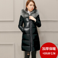 pu皮女2019新款中长款外套冬加厚韩版修身皮