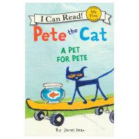 I Can Read A Pet for Pete 分级读物 皮特猫的宠物 儿童英语入门启蒙阶段 英文原版绘本