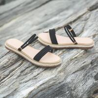 平底凉拖鞋女夏外穿时尚新款韩版学生一鞋两穿一字拖鞋女