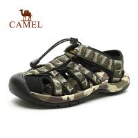 camel骆驼户外沙滩凉鞋 防撞鞋头提花织带男款迷彩耐磨沙滩鞋