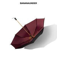 蕉下防晒小黑伞双层太阳伞女蕉下遮阳伞黑胶阻隔99%紫外线太阳伞