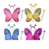 双层翅膀 发光儿童演出服装表演道具 天使翅膀 儿童玩具批发