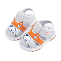 男宝宝鞋子0-1-3岁2婴儿春秋防滑软底凉鞋幼儿学步鞋