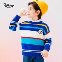 【今日3折�A估�r:68.1元】迪士尼男童毛衣�棉秋冬新款童�b�r尚上衣�A�I�l�y�和�������衫
