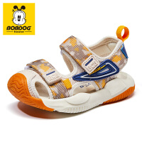 巴布豆bobdoghouse童鞋包头宝宝凉鞋2021新款夏季女童鞋沙滩鞋子-卡其