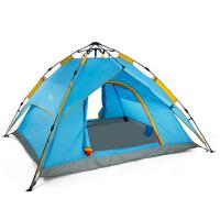 新款休闲户外双层全自动帐篷3-4人家庭野营帐篷套装