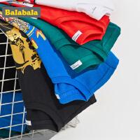 巴拉巴拉男童t恤新款夏装儿童短袖中大童童装纯棉印花体恤男