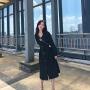 【修身显瘦】【女神气质】法式赫本风连衣裙女2019新款秋季V领收腰气质显瘦复古小黑裙长裙