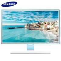 三星显示器-三星液晶显示器23.6英寸S24E360HL PLS高清面板,不闪屏滤蓝光,时尚冰纯蓝设计 VGA+HDM