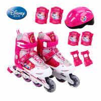 DISNEY/迪士尼正品轮滑鞋儿童旱冰鞋滑冰鞋可调溜冰鞋套装男女