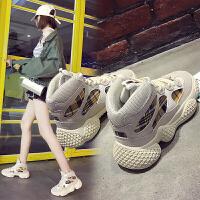 BANGDE高帮运动鞋女2018新品韩版秋季厚底休闲单鞋女嘻哈街拍高邦