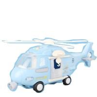 儿童玩具飞机超大号惯性仿真客机直升飞机男孩宝宝音乐玩具车模型 薄荷蓝直升机 超大号