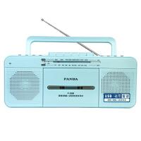 PANDA/熊猫 F-336收录复读机品牌录音机磁带U盘MP3英语学习教学机小学初中生多功能英语播放收音机 蓝色