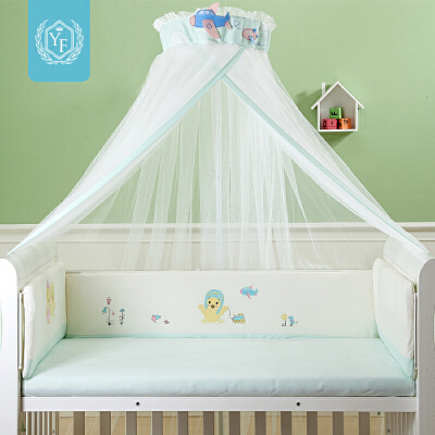 宝宝婴儿蚊帐落地夹式婴儿蚊帐罩婴儿床蚊帐带支架儿童蚊帐 全店支持7天无理由