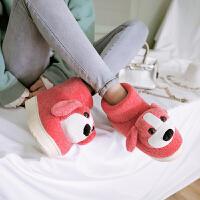 儿童毛拖鞋女童冬季可爱卡通男童棉拖鞋包跟男宝宝棉鞋1两岁3防滑 【高帮不亮灯】