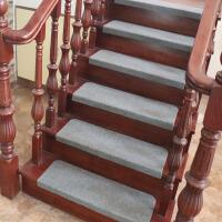 实木楼梯垫免胶自粘踏步垫防滑家用大理石楼梯贴台阶贴保护楼梯TPP 浅灰色 21cm x 60cm(下折款)