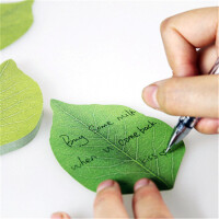 韩国创意可爱树叶便签纸 便利贴便签条留言便条本便笺夹