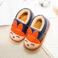 儿童拖鞋冬季包跟PU皮水男女童软底滑卡通可爱宝宝保暖棉鞋