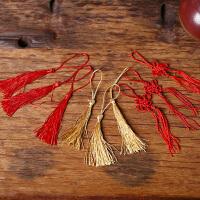 中国风复古小号小中国结红色金色流苏创意请柬喜糖盒子配件
