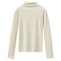 新年礼物秋冬2019新款学生韩版高领长袖打底衫设计感上衣女装心机T恤百搭