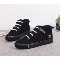 秋冬加绒棉鞋10保暖帆布鞋12大童初中学生男鞋13男孩板鞋15岁冬鞋