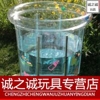 游泳池儿童 新生婴儿游泳池加厚充气透明支架儿童游泳桶宝宝洗澡桶省水保温池