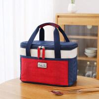 保温袋铝箔加厚便当包手提袋大号带饭包帆布手拎的饭盒袋子手提包