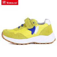 【到手价:141元】探路者儿童童鞋 新款户外男女童透气网布防滑耐磨健走鞋QFOG85018