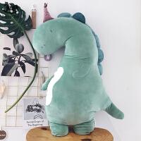 可爱小恐龙公仔长条猫咪抱枕 抱着睡觉的布娃娃企鹅大号毛绒玩具 恐龙(哈果) 小号:50厘米