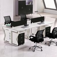 办公家具职员办公桌椅组合屏风 工作位办公家具简约现代职员办公桌椅组合工作位4/6员工电脑桌屏风卡座 椅