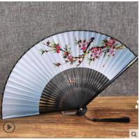 日式折扇中国风女式扇子绢扇樱花和风工艺古风折叠小扇女扇
