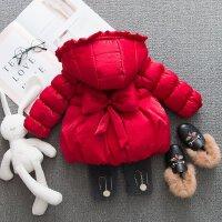 女宝宝冬装加厚棉衣 1-3岁洋气女童装2019新款2婴儿加绒棉袄