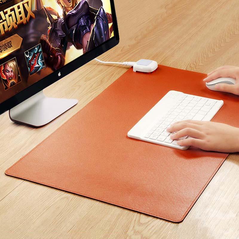 加热鼠标垫发热暖手桌面办公室写字台电热冬天保暖电脑超大暖桌垫