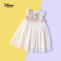 【2件2.3折:66元】迪士尼宝宝快乐星球女童针织公主背心连衣裙夏季