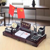 老板办公室桌面摆件装饰品文台创意笔筒摆设*礼品