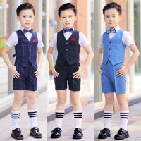 男孩小主持人花童幼儿园钢琴合唱演出服男童夏儿童礼服男套装
